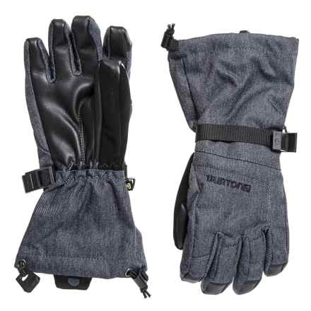 Burton Denim Grab Gloves - Waterproof, Insulated, Touchscreen Compatible (For Boys) in Denim - Closeouts