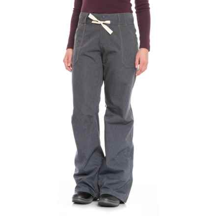 Burton Denim Veazie Pants - Waterproof (For Women) in Denim - Closeouts