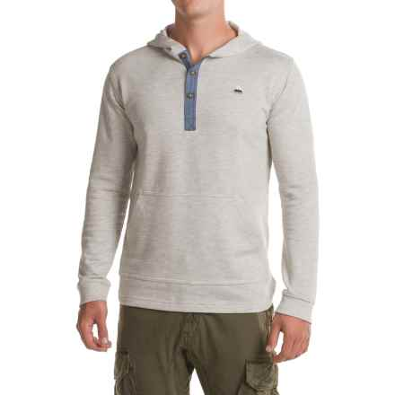 Burton Dexter Hooded Henley Shirt - Long Sleeve (For Men) in High Rise Heather - Closeouts