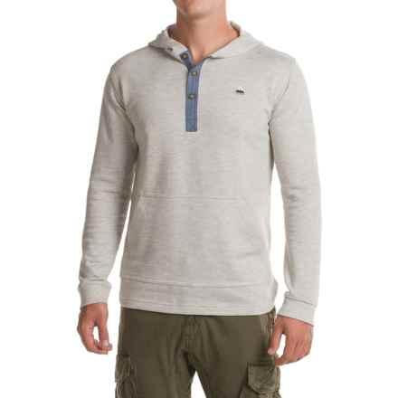 Burton Dexter Hooded Henley Shirt - Long Sleeve (For Men) in High Rise Heather - Closeouts