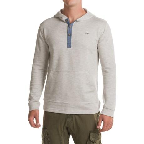 Burton Dexter Hooded Henley Shirt - Long Sleeve (For Men) in High Rise Heather