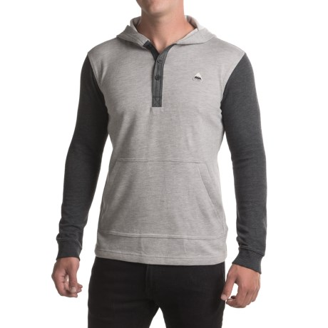 Burton Dexter Hooded Henley Shirt - Long Sleeve (For Men) in Monument Heather