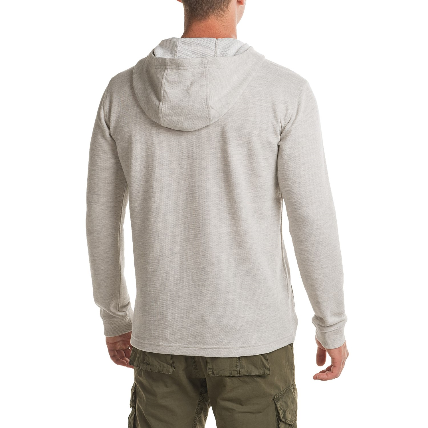 Burton dexter hooded henley shirt for men for Men s thermal henley long sleeve shirts
