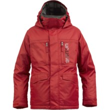 Burton Distortion Snowboard Jacket - Waterproof, Insulated (For Boys) in Burn - Closeouts