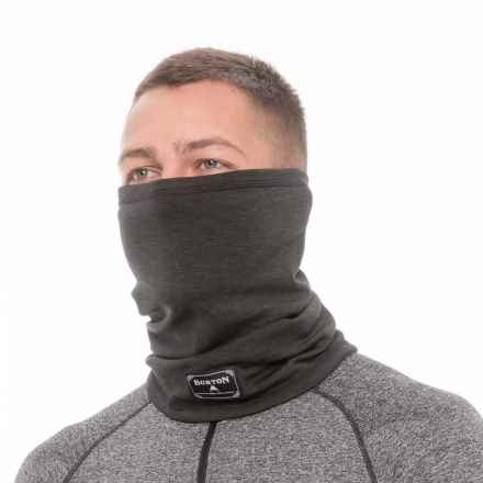 Burton Dri-Release® Neck Gaiter (For Men and Women) in True Black Heather - Closeouts