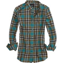 Burton Driver Flannel Shirt - Long Sleeve (For Women) in Spruce - Closeouts