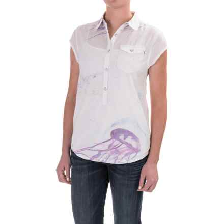 Burton Dunlin Shirt - Short Sleeve (For Women) in Jellyfish Print - Closeouts