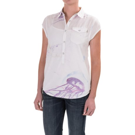 Burton Dunlin Shirt - Short Sleeve (For Women) in Jellyfish Print