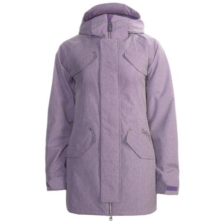 Burton Dylan Jacket - Waterproof, Insulated (For Women) in Mulberry Ombre Plaid