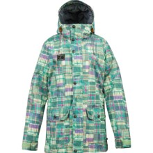 Burton Easton Snowboard Jacket - Waterproof, Insulated (For Women) in Hamptons Plaid - Closeouts