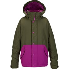 Burton Echo Jacket - Waterproof, Insulated (For Little and Big Girls) in Keef/Grapeseed - Closeouts