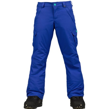 Burton Elite Cargo Snowboard Pants - Waterproof, Insulated (For Girls) in Deja Blue