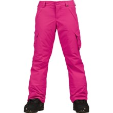 Burton Elite Cargo Snowboard Pants - Waterproof, Insulated (For Girls) in Hot Streak - Closeouts