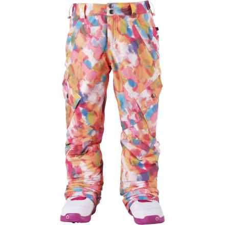 Burton Elite Cargo Snowboard Pants - Waterproof, Insulated (For Little and Big Girls) in Laila - Closeouts