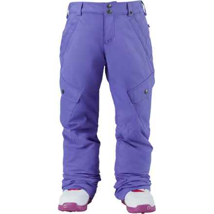 Burton Elite Cargo Snowboard Pants - Waterproof, Insulated (For Little and Big Girls) in Periwinks - Closeouts