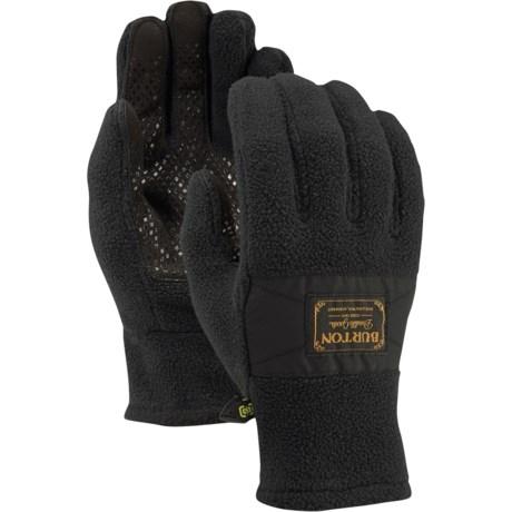 Burton Ember Fleece Gloves - Touchscreen Compatible (For Men) in True Black