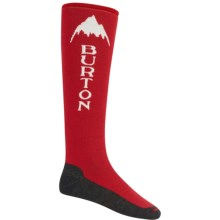 Burton Emblem Snowboard Socks - Midweight, Over the Calf (For Men) in Burner - Closeouts