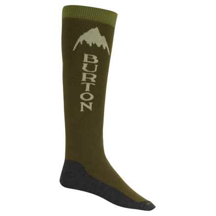 Burton Emblem Snowboard Socks - Over the Calf (For Men) in Keef - Closeouts