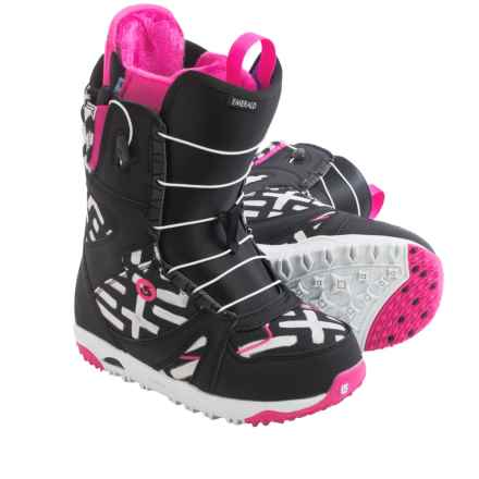 Burton Emerald Snowboard Boots (For Women) in Black/Pink/Print - Closeouts