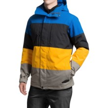 Burton Encore Snowboard Jacket - Insulated (For Men) in Cyanide Colorblock - Closeouts