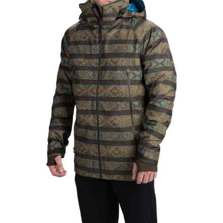 Burton Ether Gore-Tex® Snowboard Jacket - Waterproof, Insulated (For Men) in Evilo Zulu Stripe - Closeouts