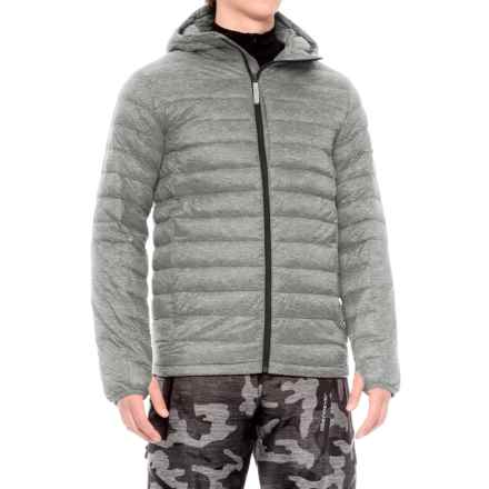 Burton Evergreen Hooded Down Insulator Jacket - 650 Fill Power (For Men) in Gray Heather - Closeouts