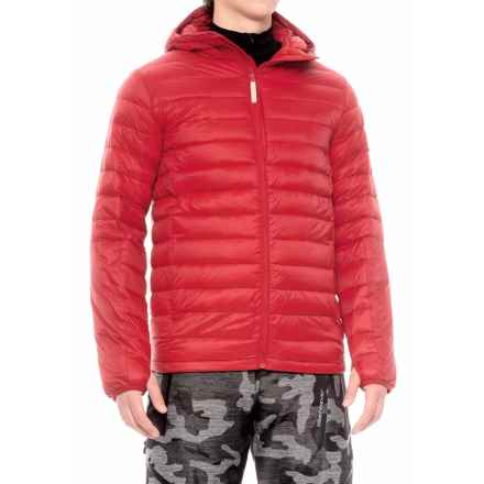 Burton Evergreen Hooded Down Insulator Jacket - 650 Fill Power (For Men) in Process Red - Closeouts