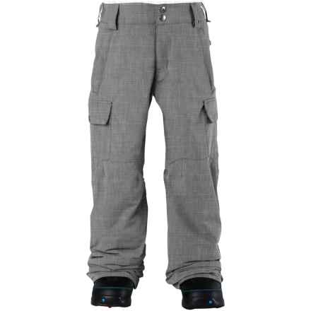 Burton Exile Cargo Snowboard Pants - Waterproof (For Little and Big Boys) in Heather Bog - Closeouts