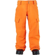 Burton Exile Cargo Snowboard Pants - Waterproof (For Little and Big Boys) in Safety - Closeouts
