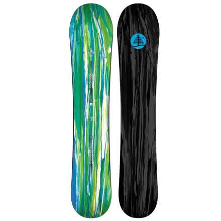 Burton Family Tree High Spirits Snowboard (For Women) in Snail Trail Green/Snail Trail - 2nds