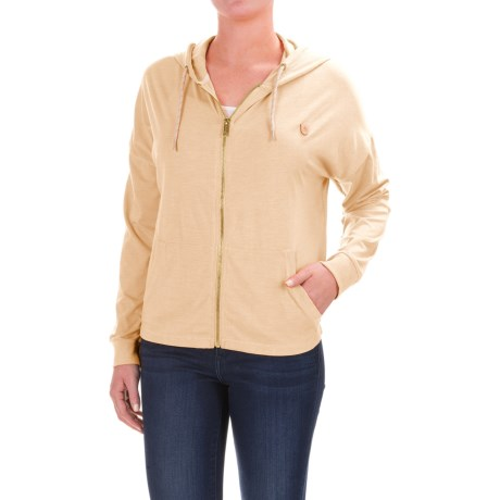 Burton Favorite Hoodie - Full Zip (For Women) in Canvas Heather