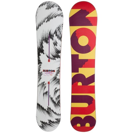 Burton Feelgood Flying V Snowboard (For Women) in 140 Red/Yellow/Wine