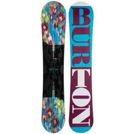 Burton Feelgood Flying V Snowboard (For Women) in Ocean/Wine/White - Closeouts