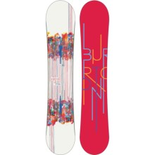 Burton Feelgood Flying V Snowboard (For Women) in Red W/Graphics - Closeouts