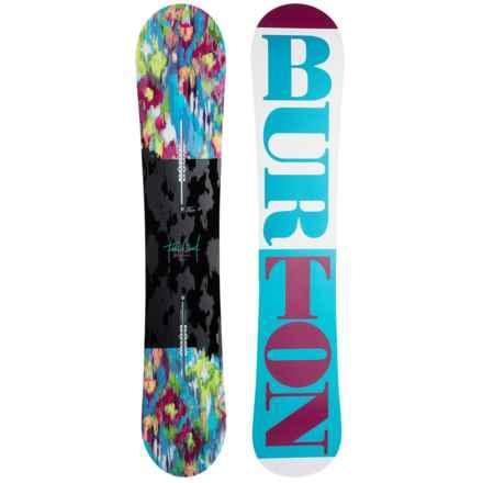 Burton Feelgood Flying V Snowboard (For Women) in White/Ocean/Wine - Closeouts