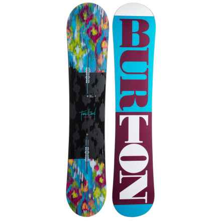 Burton Feelgood Snowboard (For Women) in Ocean/Wine/White - 2nds