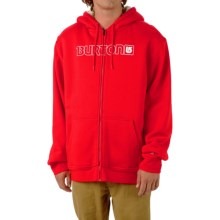 Burton Fireside Hoodie - Sherpa Lined (For Men) in Fiery Red - Closeouts