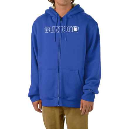 Burton Fireside Hoodie - Sherpa Lined (For Men) in Web - Closeouts