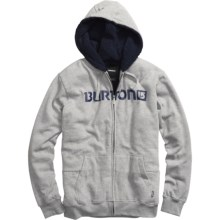 Burton Fireside Hoodie Sweatshirt - Sherpa-Lined (For Men) in Heather Grey - Closeouts