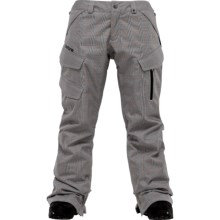 Burton Fly Snow Pants - Waterproof, Insulated (For Women) in Bright White Prince Of Wales Plaid - Closeouts