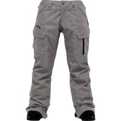 Burton Fly Snow Pants - Waterproof, Insulated (For Women) in Bright White Prince Of Wales Plaid