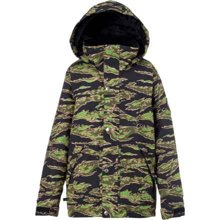 Burton Fray Snowboard Jacket - Waterproof, Insulated (For Boys) in Beast Camo - Closeouts