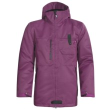 Burton Freemont Jacket - Waterproof, Insulated (For Men) in Vivid Violet Carbon Weave - Closeouts