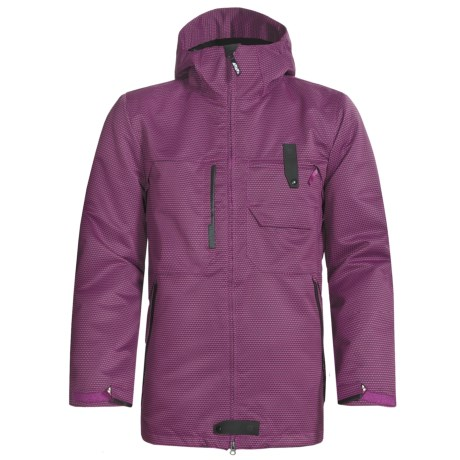 Burton Freemont Jacket - Waterproof, Insulated (For Men) in Vivid Violet Carbon Weave