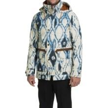 Burton Fremont Printed Snowboard Jacket - Waterproof (For Men) in Indigo Batik - Closeouts