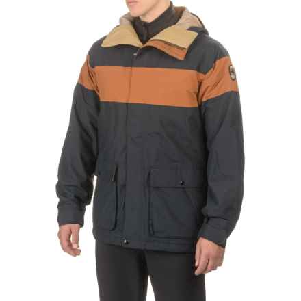 Burton Frontier Ski Jacket - Waterproof, Insulated (For Men) in True Black/True Penny - Closeouts