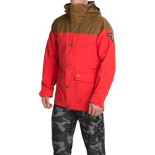 Burton Frontier Snowboard Jacket - Waterproof, Insulated (For Men) in Beaver Tail/Burner - Closeouts