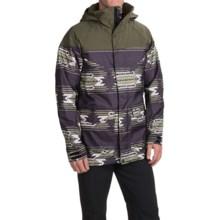 Burton Frontier Snowboard Jacket - Waterproof, Insulated (For Men) in Keef/True Black Sierra - Closeouts