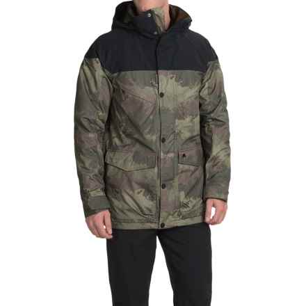 Burton Frontier Snowboard Jacket - Waterproof, Insulated (For Men) in True Black/Oil Camo - Closeouts