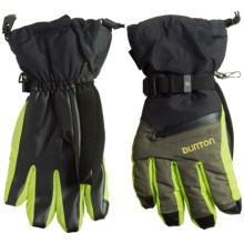 Burton Gore-Tex® Gloves - Waterproof, Insulated, 2-Pair (For Men) in True Black/Keef/Venom - Closeouts